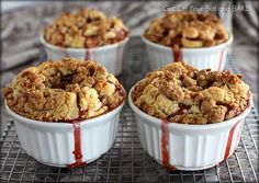 DEEP DISH APPLE RASPBERRY CRUMB PIES - Get Off Your Butt and BAKE
