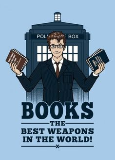doctor who dr tardis timelord books david tennant gallifrey timey wimey time travel 10th police box Movies & TV