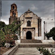 """Iglesia """"Santiago Apostol"""" Ex-Convento Agustino en Ocuituco, Morelos. Primer curato y Convento (1533) en America Latina"""