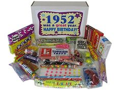 1952 65th Birthday Gift Box of Retro Nostalgic Candy for a 65 Year Old Man or Woman Born in the 50s Jr *** Read more at the image link.