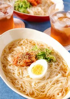 Somen Noodles - This delicious noodle restaurant's cold noodle style. It's a menu of some with excellent compatibility between fresh and refreshing and Veggie Recipes, Asian Recipes, Healthy Recipes, Ethnic Recipes, Indonesian Recipes, Orange Recipes, Veggie Food, Easy Cooking, Cooking Recipes