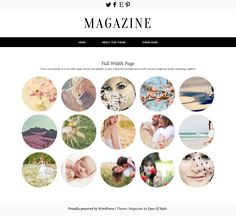 Unique portfolio Wordpress theme with circular images for designers, photographers, & artists! By Eyes Of Style
