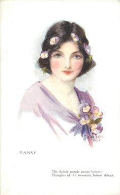 Pansy, illustrated women