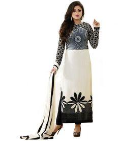Buy Shiv Fashion Black Georgette Pakistani Suits Semi Stitched Dress