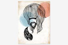 "Hairy Guy - Art Print 8"" x 10""   - Oh OnlineStore"