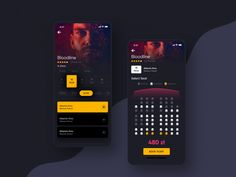 Movie App by ⚡Ankit Sharma⚡ for Mindinventory on Dribbble Android App Design, App Ui Design, Interface Design, Profile App, Mobile Ui Design, Ui Design Inspiration, Ui Web, Screen Design, Cool Fonts