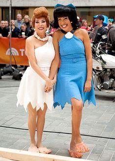 Kathie Lee Gifford (L) and Hoda Kotb as The Flintstones