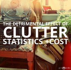 The effects of clutter are costly and detrimental to our health. See the list via becoming minimalist. Not Marie Kondo but very relevant. Becoming Minimalist, Minimalist Living, Minimalist Lifestyle, Getting Rid Of Clutter, Getting Organized, Konmari Method, Declutter Your Home, Feeling Overwhelmed, Organization Hacks