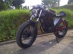 Cafe Racer Honda MP200I by BB Trail Racing Shop Bangko provinsi Jambi Indonesia.