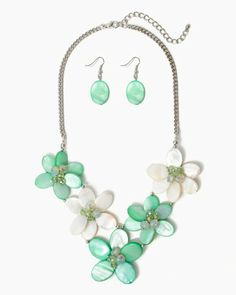 Jeweled Petals Necklace Set   Fashion Jewelry   charming charlie. Ray and Tiana