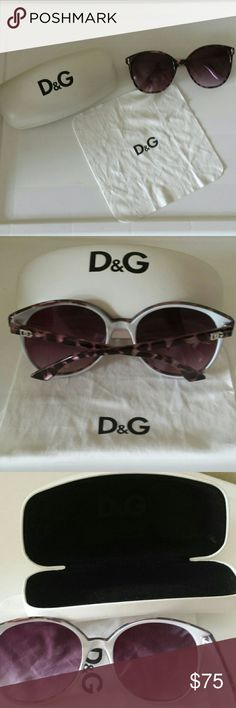 Dolce & Gabbana Sunnies Pretty Purple tortoise style D & Gabana Sunnies.  Wroth case and cloth.  All in excellent used condition.  No visible scratches. All hardware works.  Silver hardware.  So stylish! Dolce & Gabbana Accessories Glasses