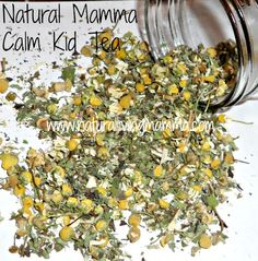 Calm Kid Tea Recipe- Safe, natural, effective herbal tea to help calm kids, soothing the mind and body. - Natural Living Mamma