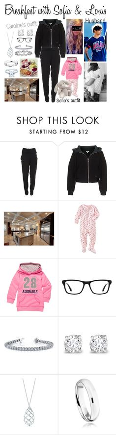 """Breakfast with Sofia & Louis"" by karolinebhn ❤ liked on Polyvore featuring Proenza Schouler, Kenzo, Tiffany & Co., Carter's, Ray-Ban, Asprey and Astley Clarke"
