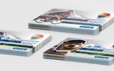 Transparent business cards.