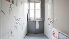 el despacho de arquitecturakitoko studioha diseñado la reforma del que sea probablemente el apartamento más pequeño del mundo al contar sólo con 8 m2. ésta vivienda situada en parís, contaba inicialmente sólo con un lavabo y una ventana. ahora dispone de un espacio para dormir, una pequeña cocina y un baño