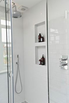 Niche in shower for soap and shampoo