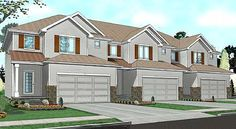 Townhouses with nice street appeal #townhouseplans