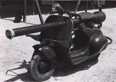 8. Scooter-mounted Cannon (Top 10 Failed Military Inventions)