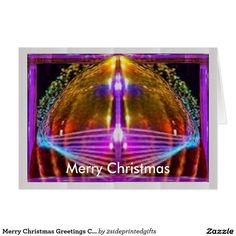 Merry Christmas Greetings Card all pages printed