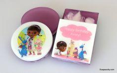 Doc McStuffins handmade childrens natural soap favors, birthday soap favors at soapaucity.com