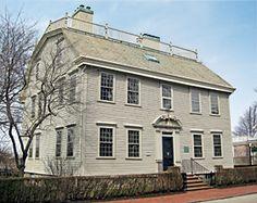 Nichols House, Newport, Rhode Island, 1748 Gambrel Roofed Georgian Colonial restoration