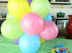 how to make mini balloon topiaries