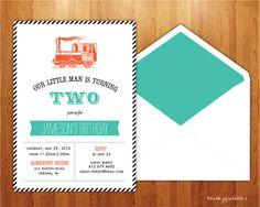 ChooChoo Train  Birthday Invitation Printable by blushprintables, $15.00