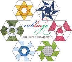 Inklingo Pieced Hexagons
