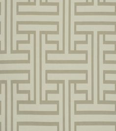 "Robert Allen @ Home Upholstery Fabric 55"" - Ming Fret Taupe"