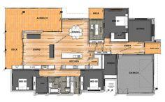 41 Ideas for house fachada beach Little House Plans, House Plans One Story, Best House Plans, Small House Plans, Luxury House Plans, Modern House Plans, Modern House Design, Home Design Floor Plans, House Floor Plans