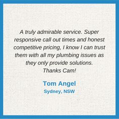 Thank you Tom! We're very glad to serve you. Thursday, Sydney, Thankful