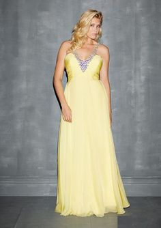 *Plus size Beauties* Oh my gosh!! The colors this dress comes in are oh so cute! Coral and yellow, love it!! Style # 7126W