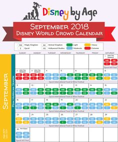 Disney World Crowd Calendar 2018 and 2019 Disney World Trip, Disney Vacations, Disney Trips, Disney Parks, 2018 Calendar Template, 2019 Calendar, Calendar Printable, Season Calendar, Holiday Calendar
