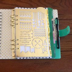 Planner stencil by TheBarnwoodBoutique on Etsy