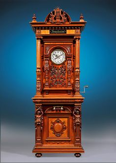 This monumental Symphonium music player is a rare and exceptional model, circa 1895 ~ M.S. Rau Antiques