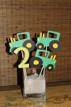 John Deere party decorations tractor birthday by PolkaDotWhale, $15.00