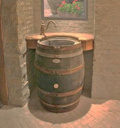 Whiskey Barrels ~ Sink / Vanity