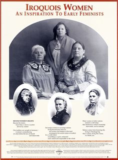 The Iroquois Confederacy, formed over years ago from five formerly warring nations, was founded on principles of respect, equity, balance and compassion. Iroquois women share equally in responsibility and authority in their nations. Native American Wisdom, Native American Women, Native American History, American Indians, Seneca Indians, Six Nations, First Nations, Indigenous Peoples Day, Iroquois