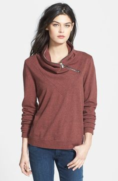 Maison Scotch 'Home Alone' Cowl Neck Sweatshirt available at #Nordstrom
