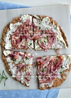 Red Onion and Chevre Pizza