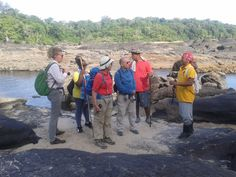 Instruction from the local guide Wilfred.
