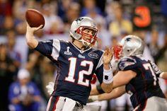 Tom Brady Super Bowl | Tom Brady Tom Brady #12 of the New England Patriots looks upfield to ...