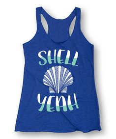 Look what I found on #zulily! Royal Blue 'Shell Yeah' Racerback Tank #zulilyfinds