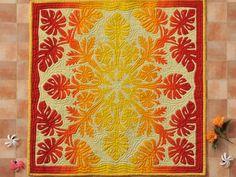 Hawaiian Quilt Patterns, Hawaiian Pattern, Hawaiian Quilts, Hand Applique, Applique Patterns, Aplique Quilts, Hawaiian Crafts, Hawaiian Designs, Fall Quilts