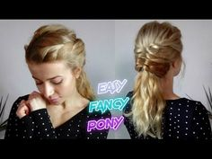 EASY MEDIUM SHORT HAIRSTYLE FANCY ROPE BRAIDED PONYTAIL | Awesome Hairst...