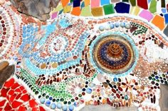 mosaic wall decorative ornament from ceramic broken tile Stock Photo - 11755206