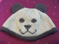 Unisex bear hat, any size or colour, made to order