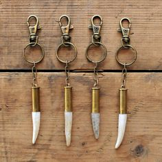 Antler Tip Bullet Shell Key Chain -Creative idea to make from your next deer hunt