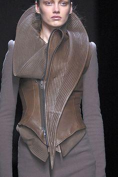 What a wonderful neckline. Haider Ackermann