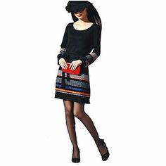 cuello redondo colorido jacquard franja costura manga farol suéter largo de las mujeres – EUR € 22.90